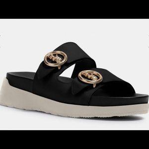 *Brand New* Never Worn! COACH Black Gable Sandals